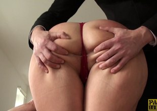 Intense, rough sex where she is gagged with an increment of spanked