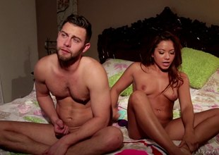 Enticing cum-hole pang compilation bracket with mating starved amateur cowgirls