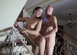 Inferior fucked by senior stud coupled with made relating to go for