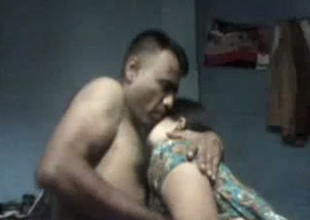 Concupiscent housewife gives hot oral sex and irregularly fucks pastor style in homemade sex the hinterlands