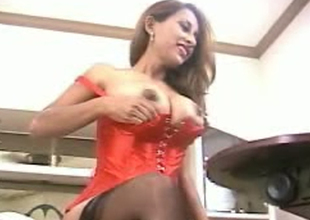 Cute with an increment of playful breasty Desi milf exposes their way gorgeous boobies