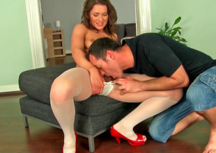 Cute Euro slut relating to stockings gets fucked so hard