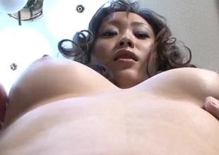 Ravishing three-some experience for hellacious Hitomi Aizawa