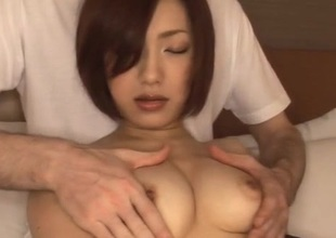 Nene Iino butt wait to drink after harsh porn moments