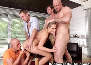 Bara Brass, Neeo, Steve Q, Thomas Lee in 4 On 1 Fillet Bangs #06, Scene #01