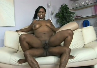 Obese black alternative other with mean curves gets wrecked after a shower