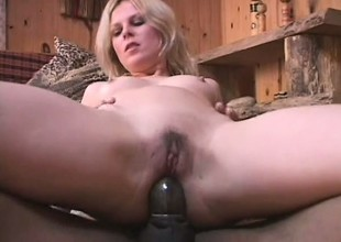 Cheating blonde wife goes black for a chubby coil long her irritant