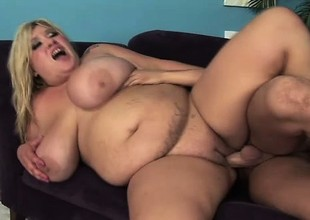Huge titty plumper Kacey blows with the addition of gets her tits a bouncing later on getting fucked