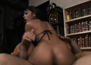 Sexy sister gets her tight pussy with the addition of ass down onto the white bushwa again