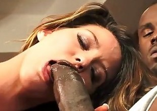 Honcho thick big dark cock distress white slut's pussy. She's a screamer!