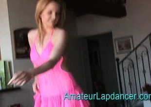 Breasty czech MILF gives lapdance increased by handjob to kinky guy