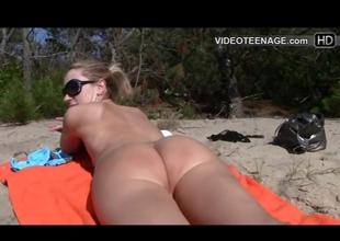 blonde teen nudist at margin
