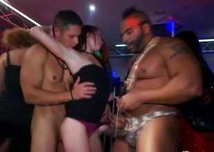 Real euroslut amateurish nailed by strippers