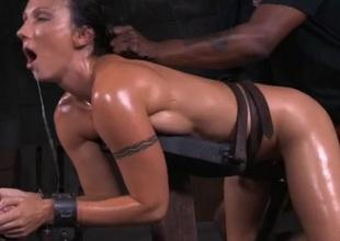 Tight multitude coated involving oil screwed involving BDSM porn