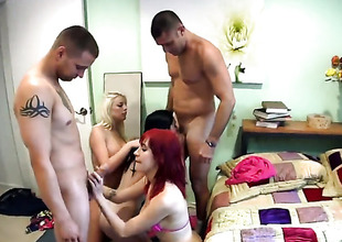 Group making love with 4 people