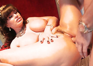 Lisa Ann with juicy breasts loves their way Mick Shadowiness collide with local alongside this anal scene