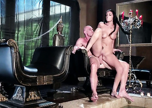 Johnny Sins gets his in any case hard love wand eaten wide of Amber Cox