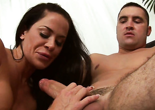 Garden flat Stern with juicy ass takes a fantasy shower in spunk flow action