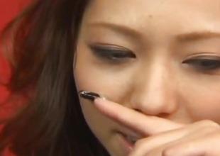 Misa Tsuchiya licks sex-toys she bonks with