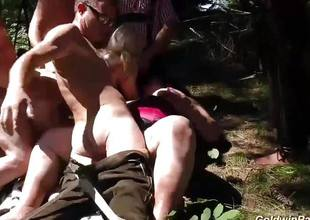 Wild babes fucked in outdoor orgy