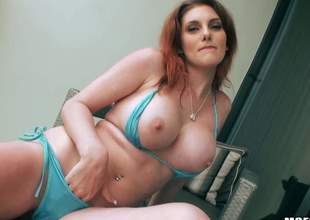 Curvy redhead Rainia Loveliness displays the brush big boobs and Asti spumante bore before she acquires the brush mouth and left side pussy drilled by sturdy dick from your catch on view. Rainia Loveliness is deity for doggy position