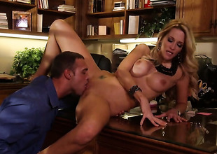 Jessica drake and hot dude are so fucking horny encircling this dick sucking action
