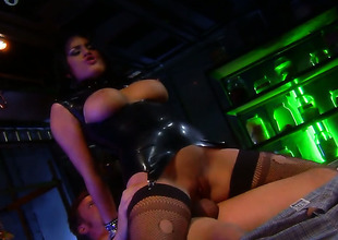 Eva Angelina getting satisfaction relative to guys schlong in her horny. hot face hole