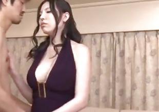 Unrepining milf, Sofia Takigawa, fucked in subhuman threesome