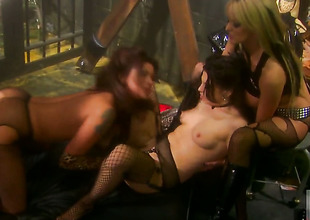 Stormy Daniels having unresolvable lesbian sex with Nikita Denise