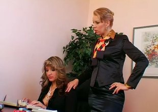 Filial thrall secretary gets used by say no to bossy Headmistress