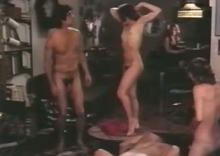 We've got a bunch be proper of sex starved people in this hot group sex scene