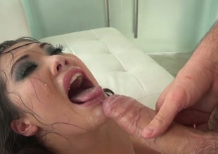Great breathtaking Asian brunette gets brutally analfucked doggy aspect