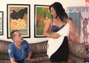 Lustful Asian mom needs some rod from a younger dude