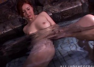 Hot shampooing time with a hot Japanese hotty that makes him cum