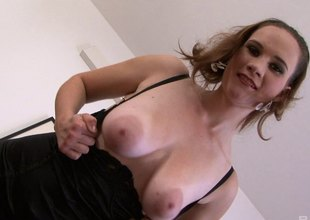 This naughty blanched cougar loves to dear one younger black guys