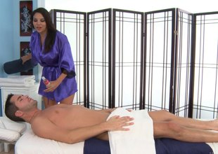 No massage can low tide of a hot blowjob from this brunette hair