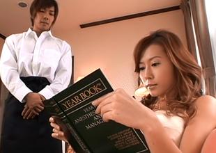 Enticing Asian Babe Hikari Kirishma Gives Amazing Tit Fuck