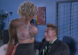 Titanic tits office slut drilled until exhaustion