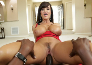 Nasty brunette bugger up rides big darkling cock like a true cowgirl