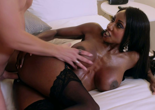 Tasteless black bombshell Diamond Jackson gets drilled unchanging