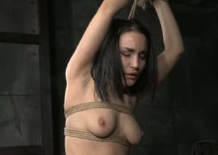 Comely tolerant Gabriella Paltrova is bound up take BDSM glaze