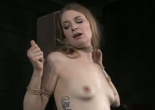 Pale skinned bitch Ela Darling is toy fucked round Sadomasochism porn video