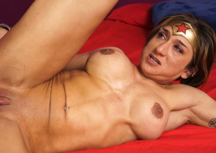 Superwoman is always obedient for a chubby fat dick