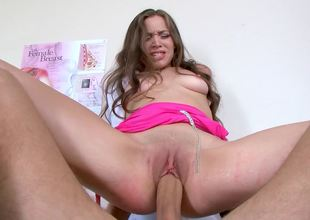 Young doctor Tiffany Starr fucks her large cock patient