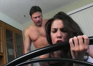 Trinity's sighs of delight invigorate her man to muck up her a-hole even harder
