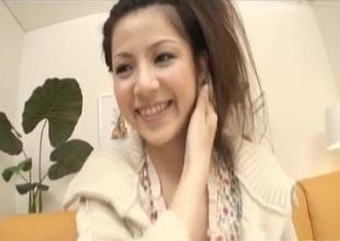 Sexy Asian Rina Koizumi exposes Victorian twat of a vibrat