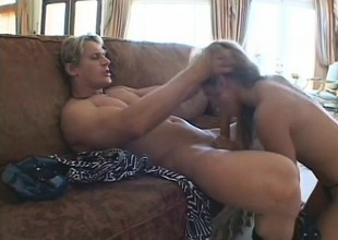 Playful blonde prevalent a sweet irritant and lovely tits has a stud back banging her holes