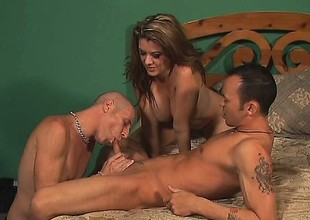 Hot pair acquires vilifying take their bi male friend and a stitch on