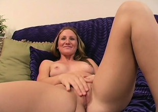 Sensual young blue-eyed with small tits sucks and fucks a black rod in POV