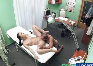 Horny covering fucks doctor